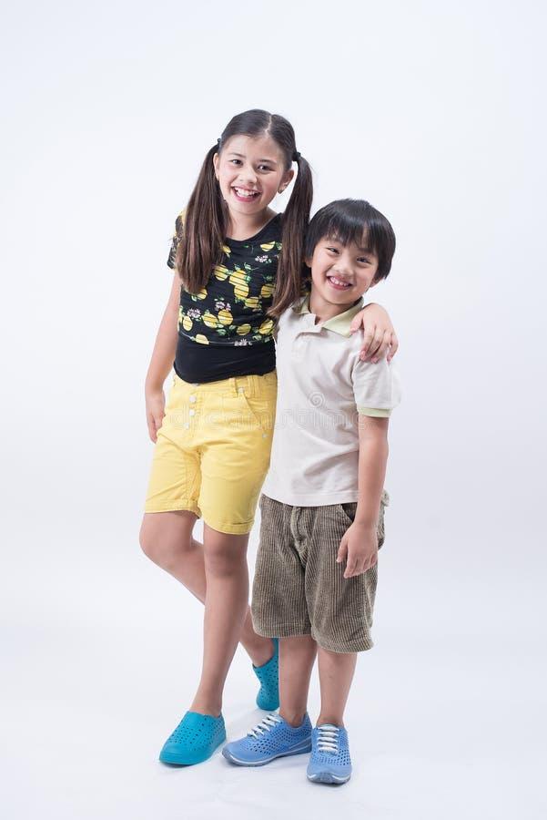 Asian sibling royalty free stock photos