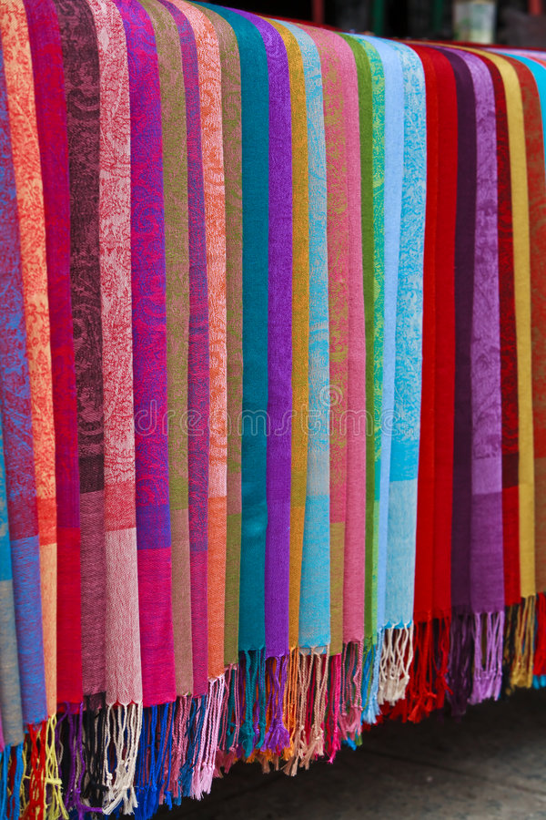 Asian Silk Fabric royalty free stock images