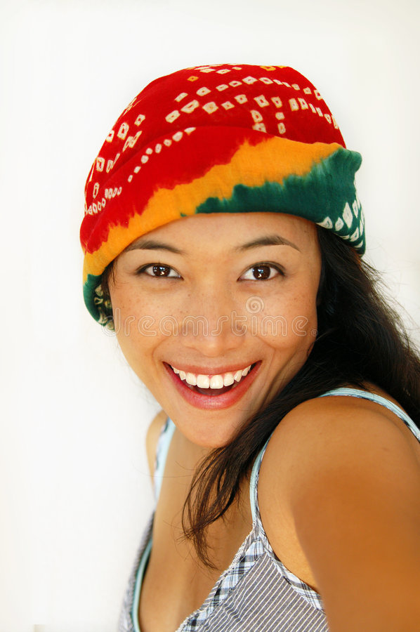 Asian smile stock images
