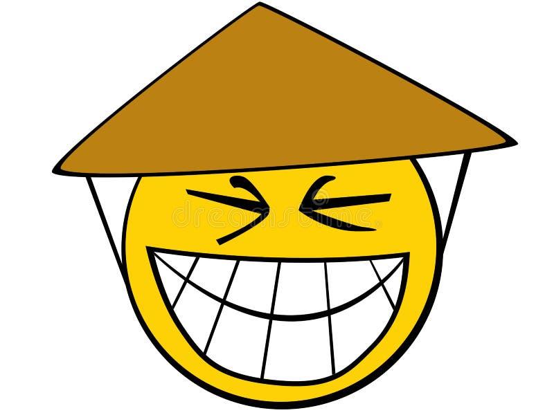 Asian smiley vector illustration