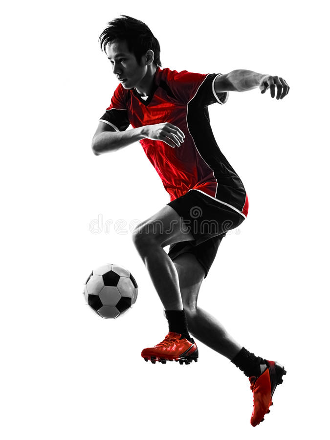 Download Asian Soccer Player Young Man Silhouette Stock Photo - Image: 37262014