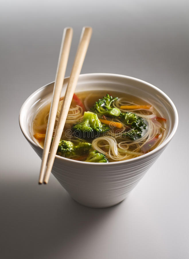 Asian Soup Stock Photo. Image Of Cuisine, Chopsticks