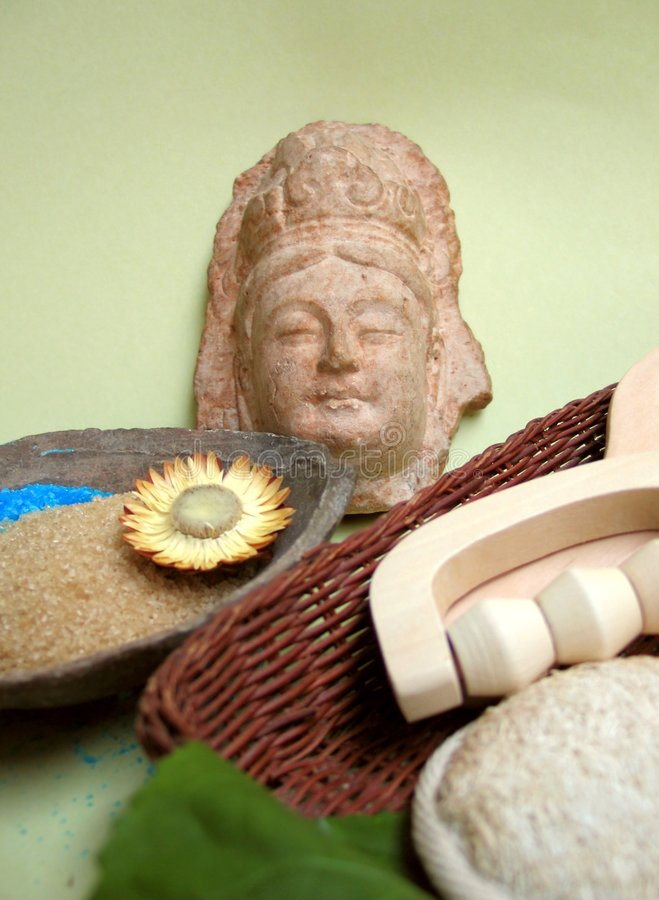 Asian spa elements stock images