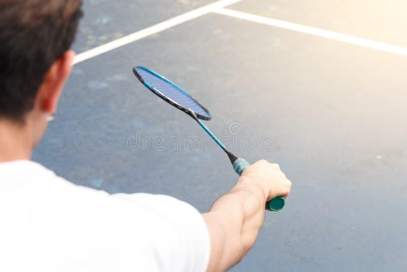 Badminton player stock photography