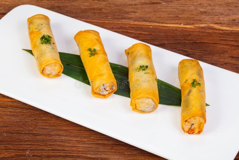 Asian spring roll stock photos