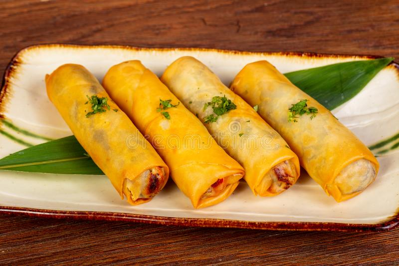 Asian spring roll stock photography