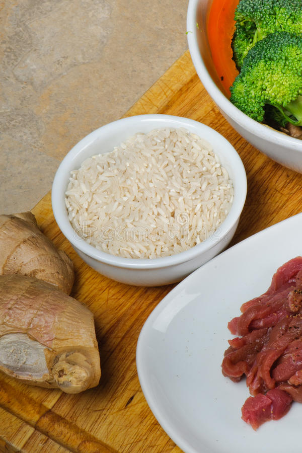 Asian Stir-Fry Ingredients Stock Images