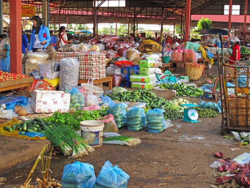 Asian street market royalty free stock image