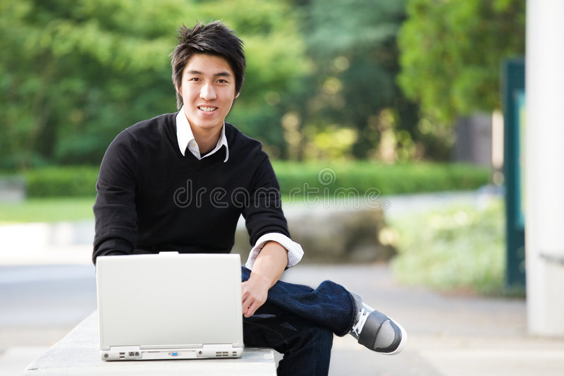 Download Asian student stock photo. Image of happy, education, studying - 6006350