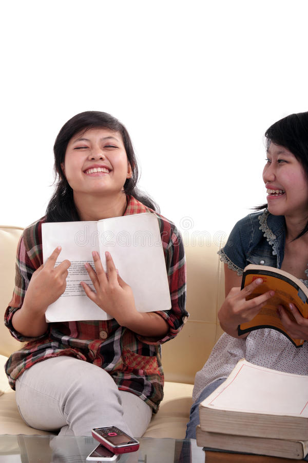 Asian student learning stock photography