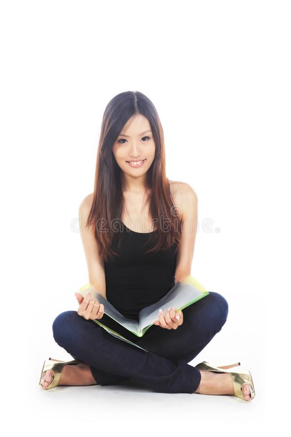 Asian Student Studying royalty free stock photos