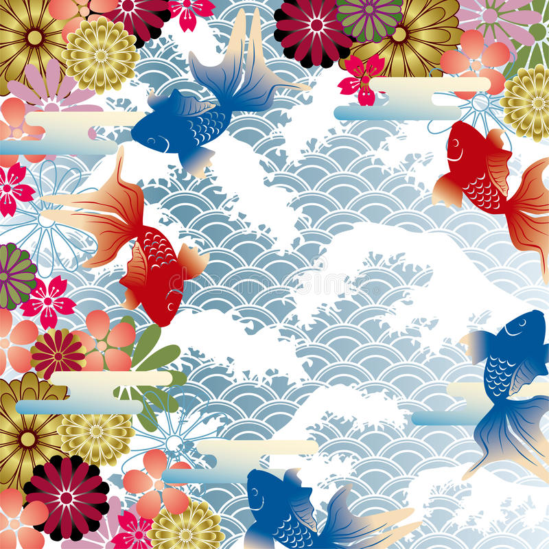 Asian style background vector illustration