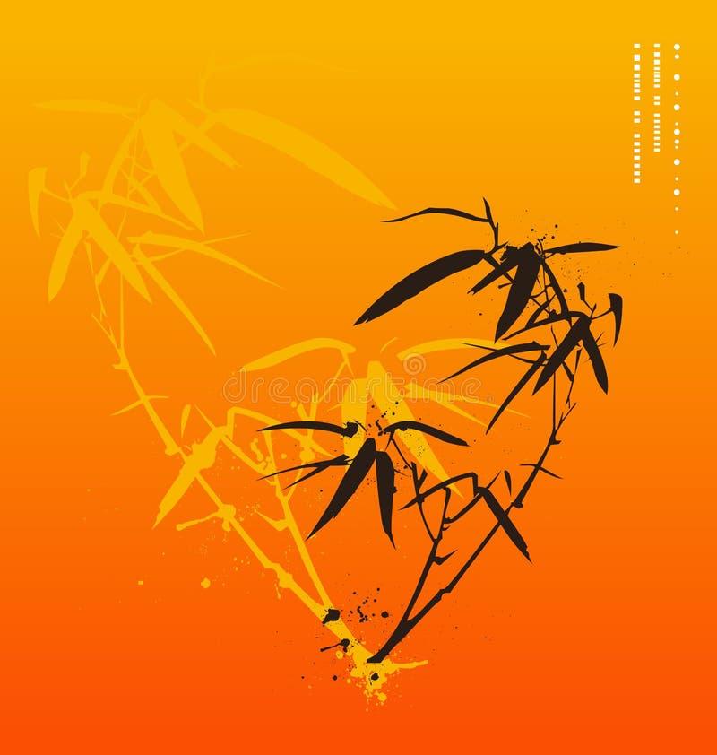 Asian style bamboo stock illustration