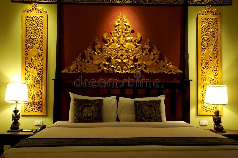 Asian style bedroom stock image. Image of furnished, furnishing ...