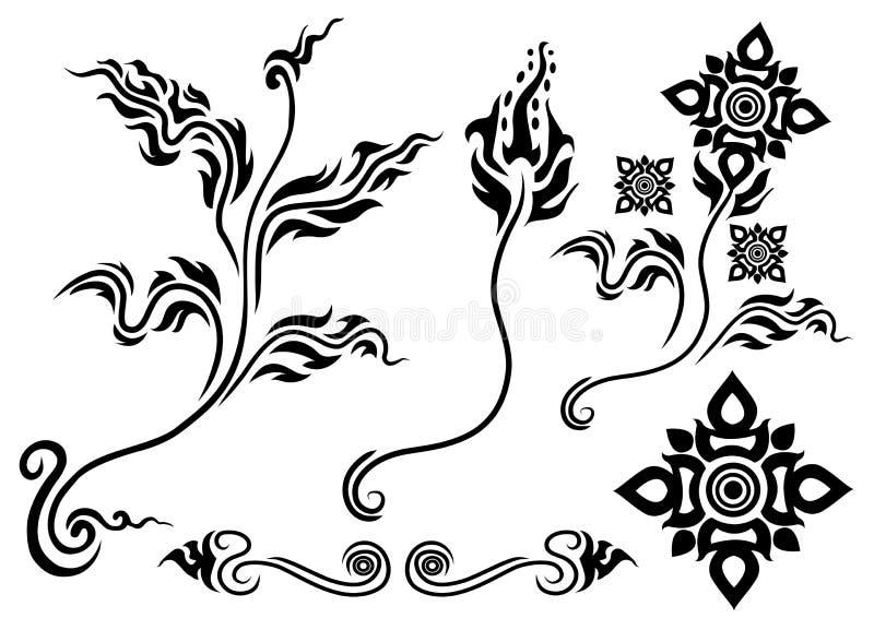 Asian style flower vector illustration