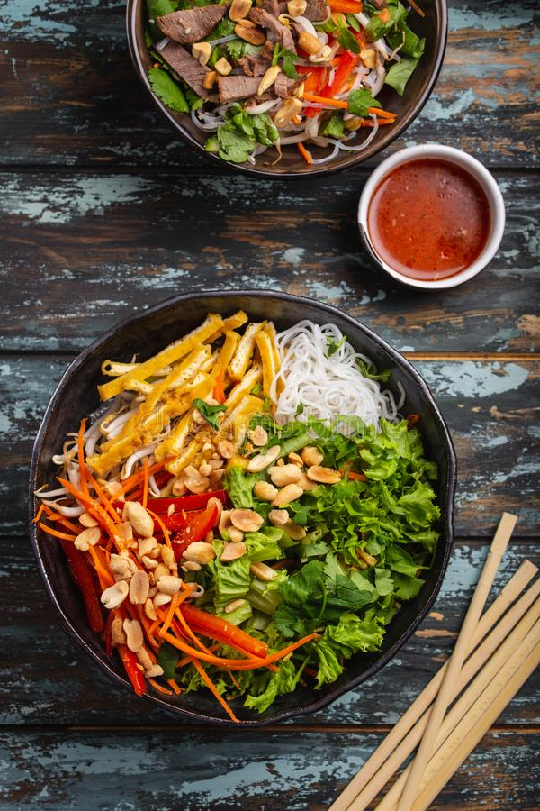 Asian style noodles salad stock photo