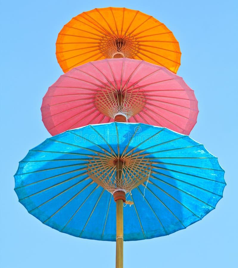 Asian style umbrella stock image
