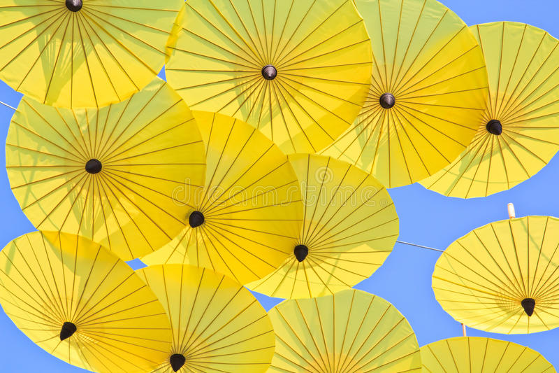 Asian style umbrella royalty free stock photography
