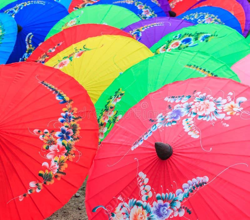 Asian style umbrella royalty free stock photos