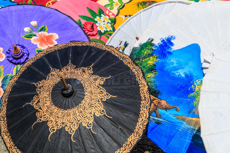 Asian style umbrella stock images