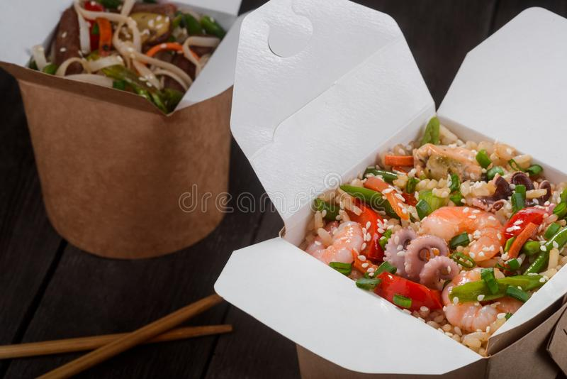 Asian take-out food stock photos