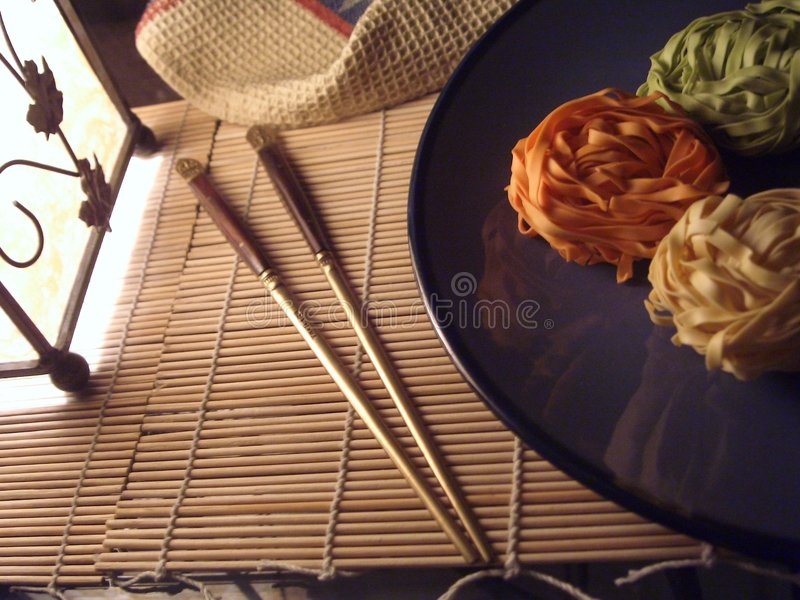 Asian Taste. A simple Asian table setting royalty free stock photo
