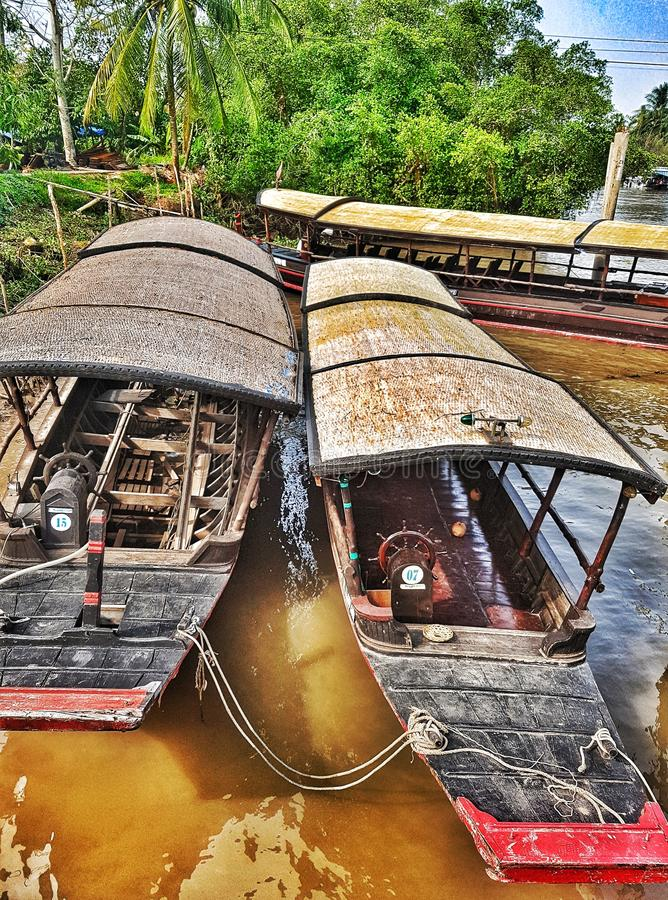 Taxi boat royalty free stock photography