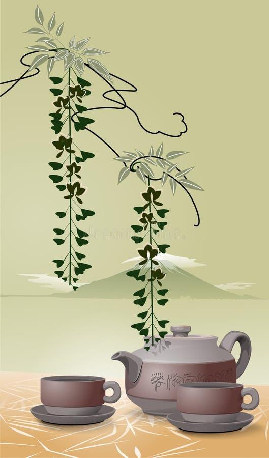 Download Asian Tea Illustration stock illustration. Image of beverage - 13561410