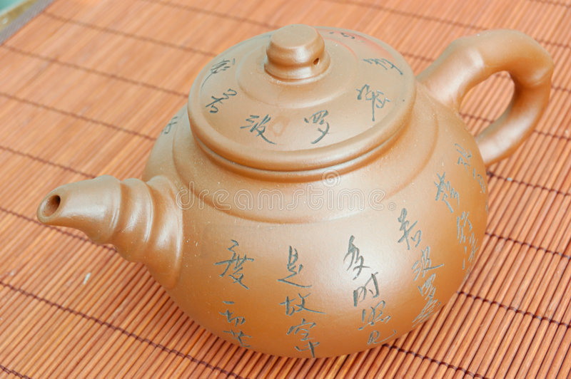 Asian teapot royalty free stock photos