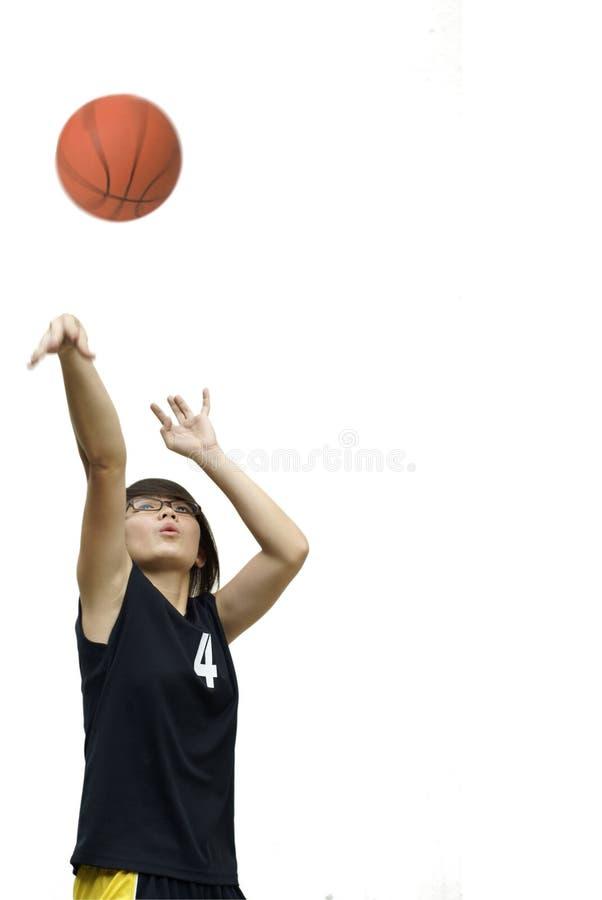 Download Asian Teen Girl Throw Basketball Stock Photo - Image of basketball, chinese: 18985028