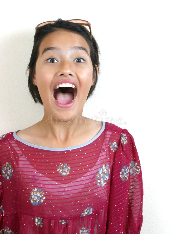 Asian teen (series) royalty free stock photo
