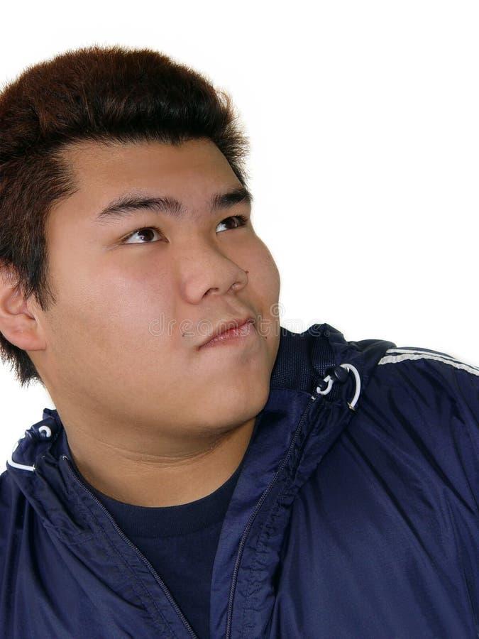 Asian teenage boy stock image