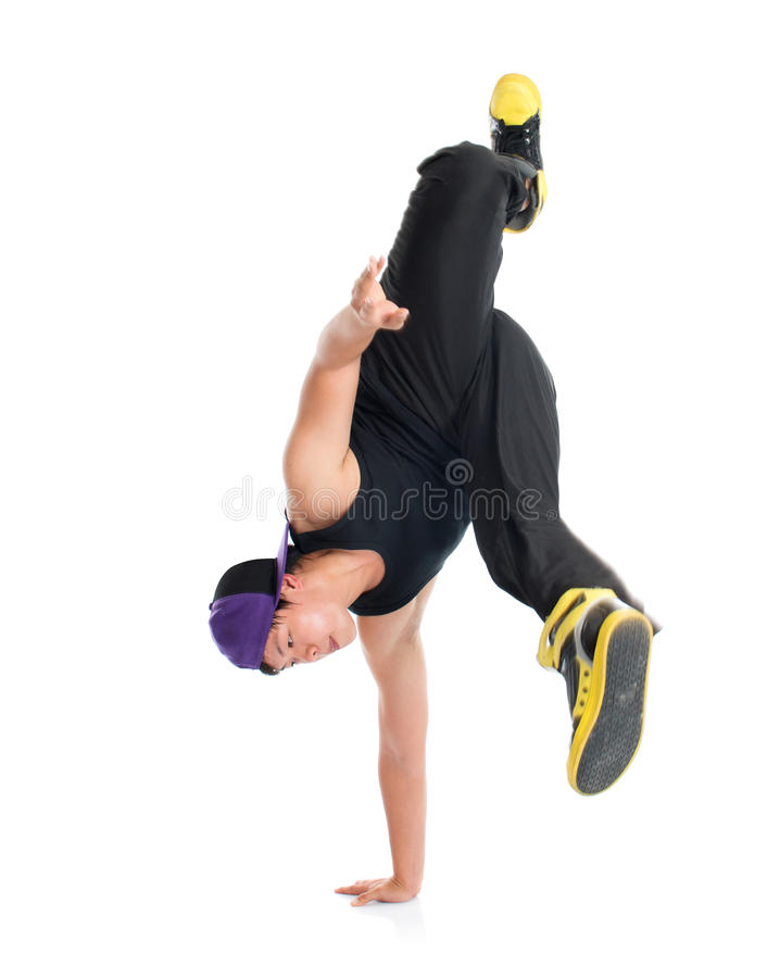 Asian teenager dance hip hop royalty free stock photography