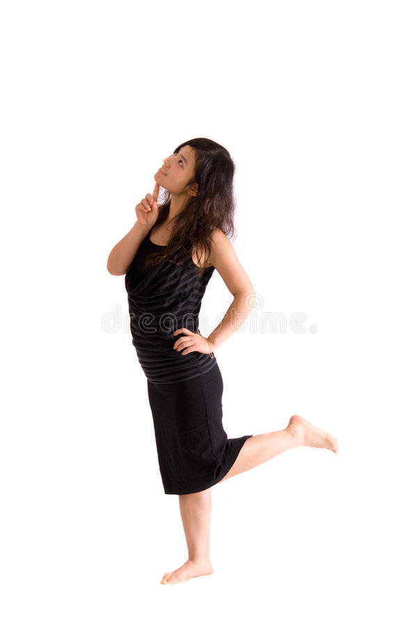 Free Asian Teenager In Black Skirt Isolated Stock Photo - 7421190