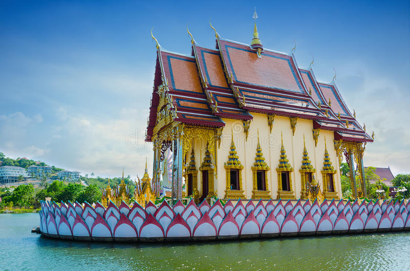 Asian temple on the river. Thailand. Beautiful asian temple on the river in Thailand royalty free stock photos