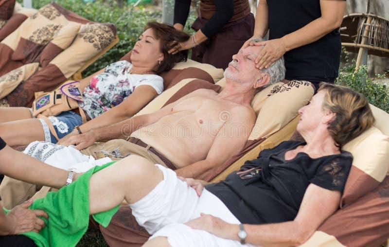 Asian thai massage spa stock photo