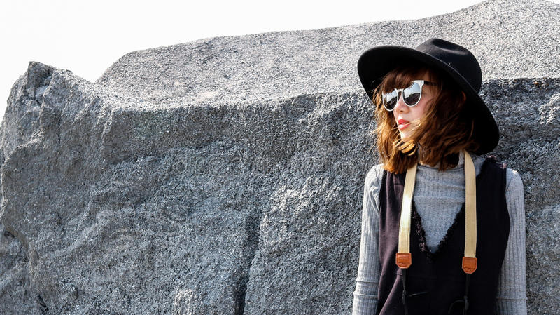 Asian tourist girl royalty free stock photos