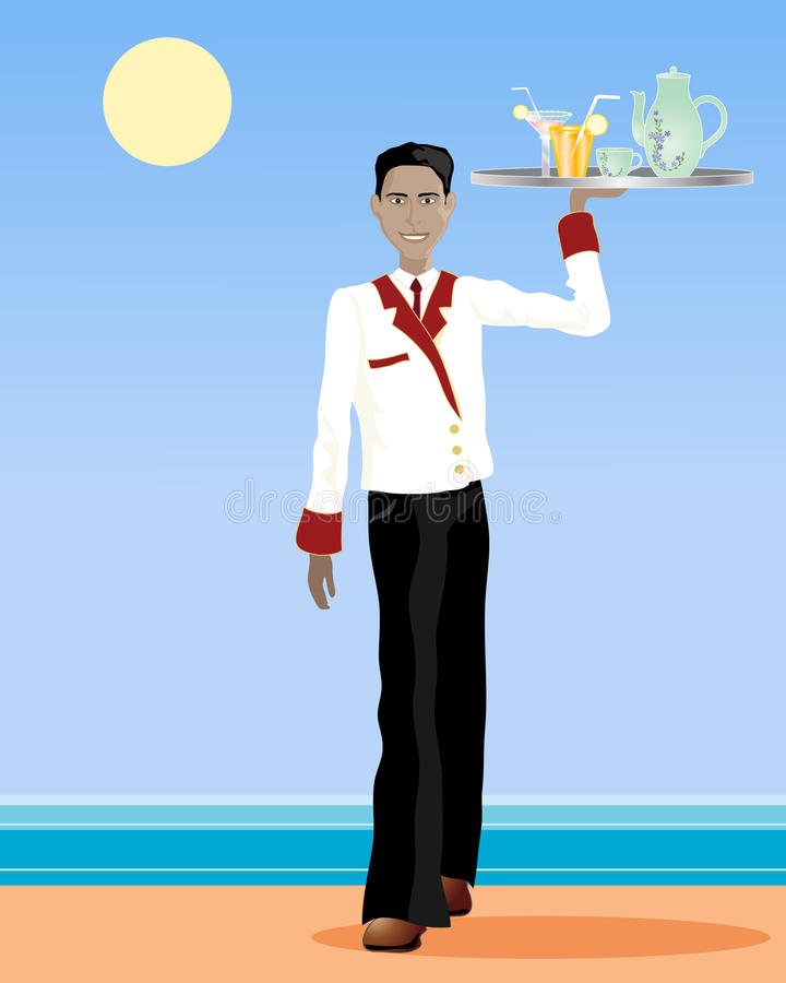Download Asian waiter stock vector. Image of smart, tropical, profession - 20875645