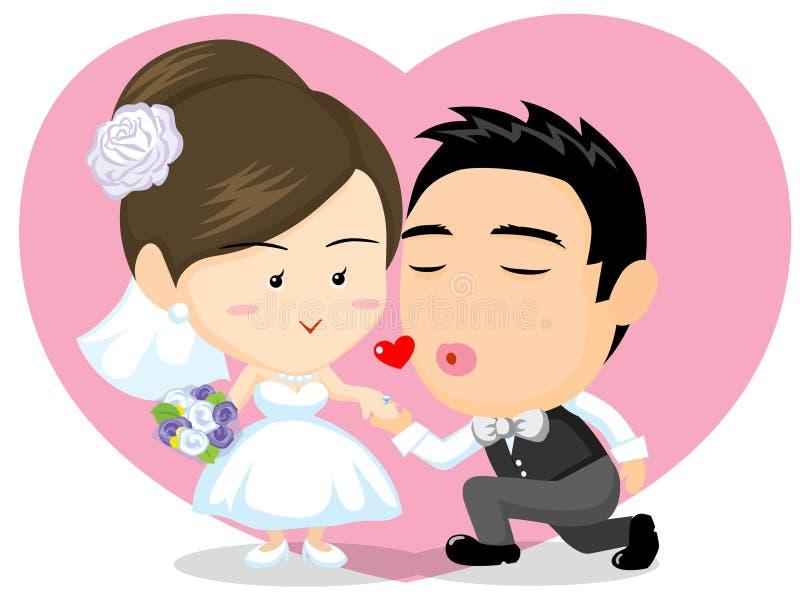 Asian Wedding Couple Stock Photos