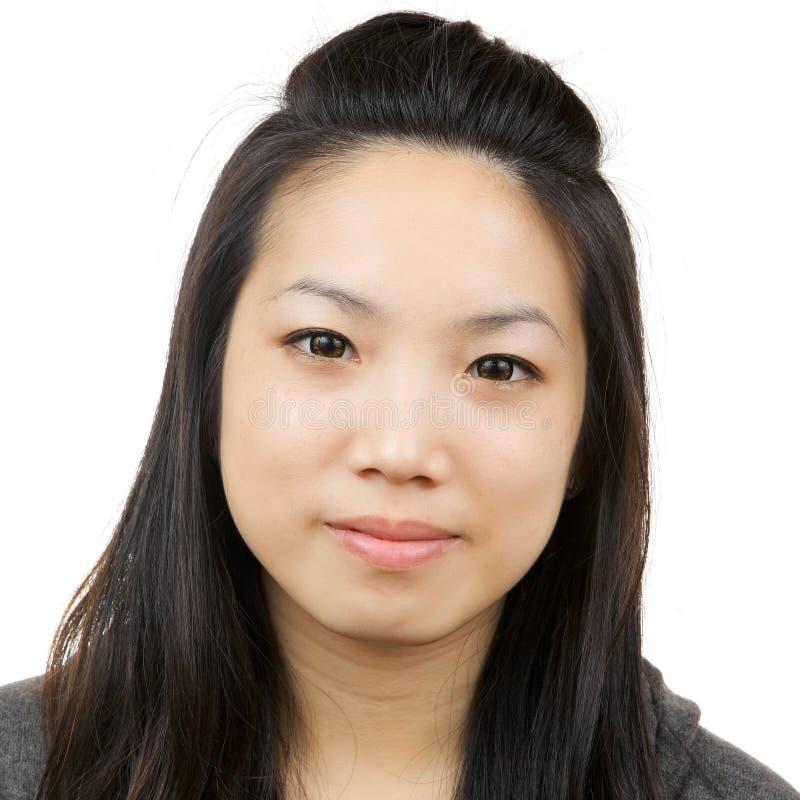 Asian woman. Isolated on white stock photos