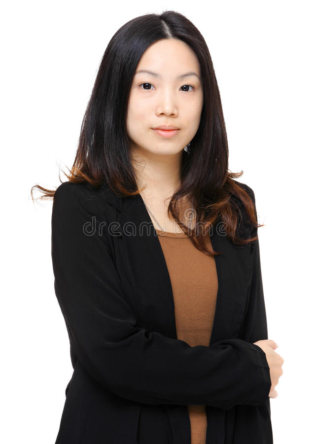 Asian woman. Over white background royalty free stock images