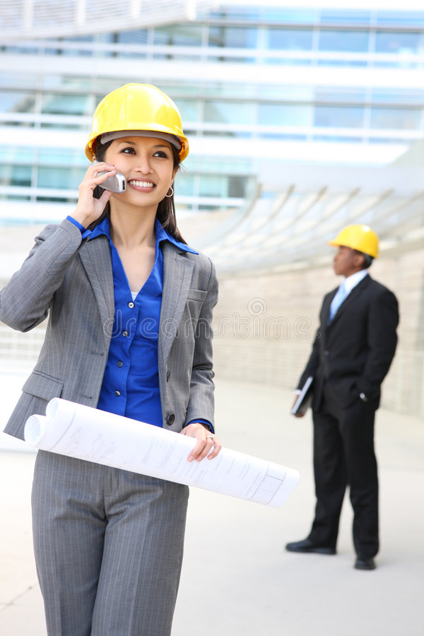 Asian Woman Architect Royalty Free Stock Images
