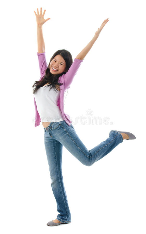 Download Asian woman arms opened up stock photo. Image of freedom - 34133632