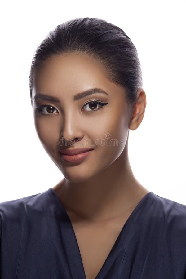 Asian Woman Beauty Face Closeup Portrait stock photography