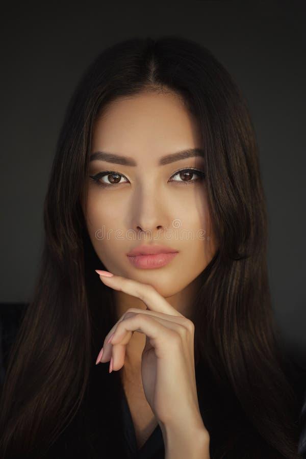 Asian Woman Beauty Face Closeup Portrait stock images