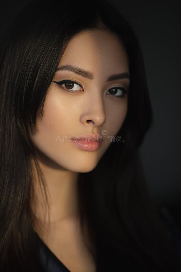 Asian Woman Beauty Face Closeup Portrait royalty free stock photos