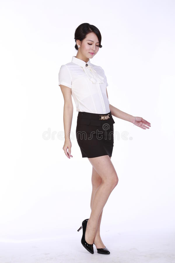 Asian woman in business attire stock image image 51299845 for Business casual white shirt