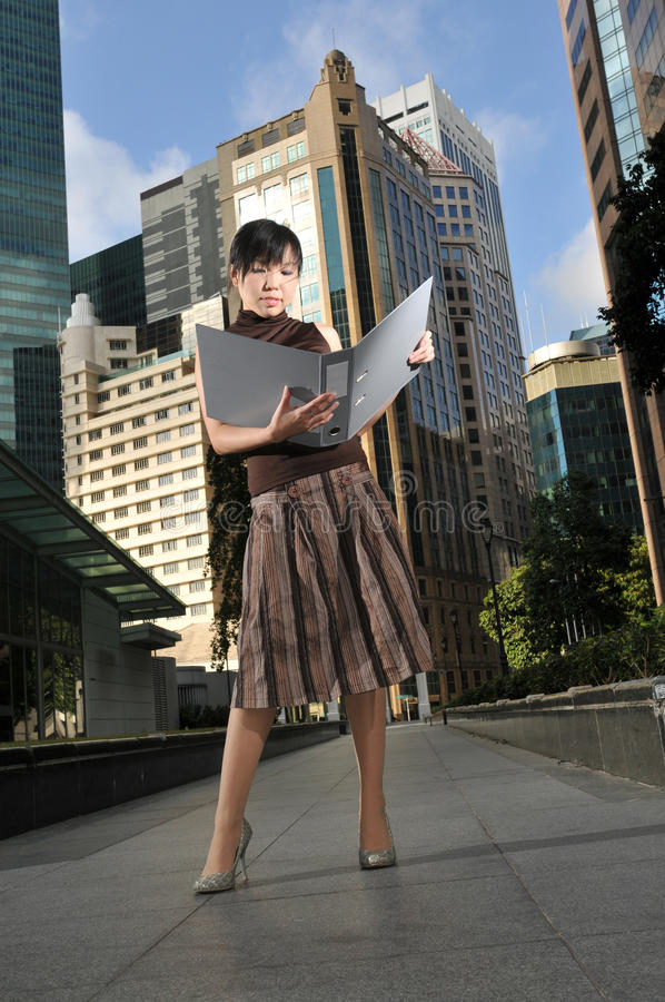 Download Asian Woman In The City Royalty Free Stock Photos - Image: 10234518