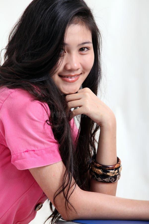 Asian Woman close up stock image