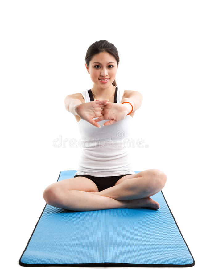 Asian woman exercise stock photos